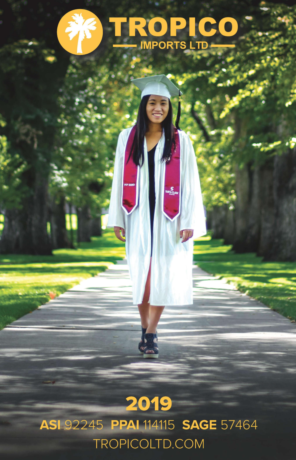 Thumbnail of 2019 Catalog, Graduate in Cap, Gown, Tassel, and Embroidered Stole